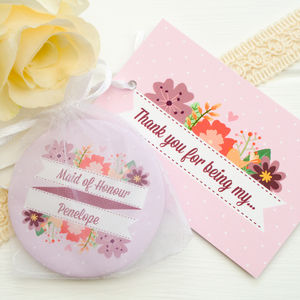 'Thank You For Being My Bridesmaid' Pocket Mirror - bridesmaid gifts