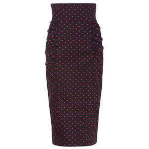 Dollydagger Polka Dot High Waist Dita Skirt - skirts & shorts
