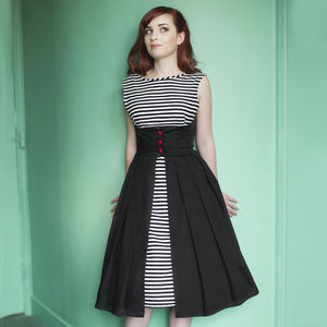 Dollydagger Lulu Stripe Button Front Dress