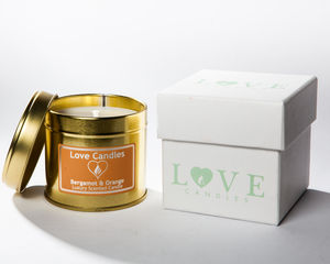 Bergamot Orange Scented Candle - candles & home fragrance