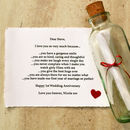 'Reasons I Love You…' Personalised Anniversary Gift