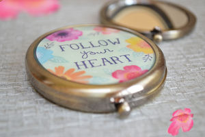Follow Your Heart Pocket Mirror - compact mirrors