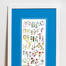 Personalised 'Fairy Alphabet' Print  Blue Mount