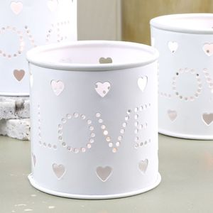 'Love' Cut Out Tealight Holder - candles & candlesticks
