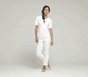 V Neck Modal T Shirt - women's fashion
