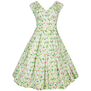 Dollydagger Green Pear Scarlet Dress - women's fashion