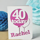 Age Balloon Papercut Card
