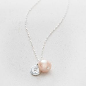 Kari Silver And Freshwater Pearl Personalised Necklace - flower girl jewellery