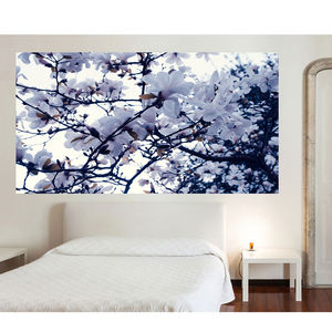 White Floral Wallpaper Decal