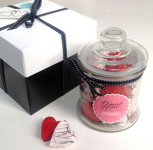 Valentine's Champagne And Strawberries Marshmallow Jar - cakes & treats