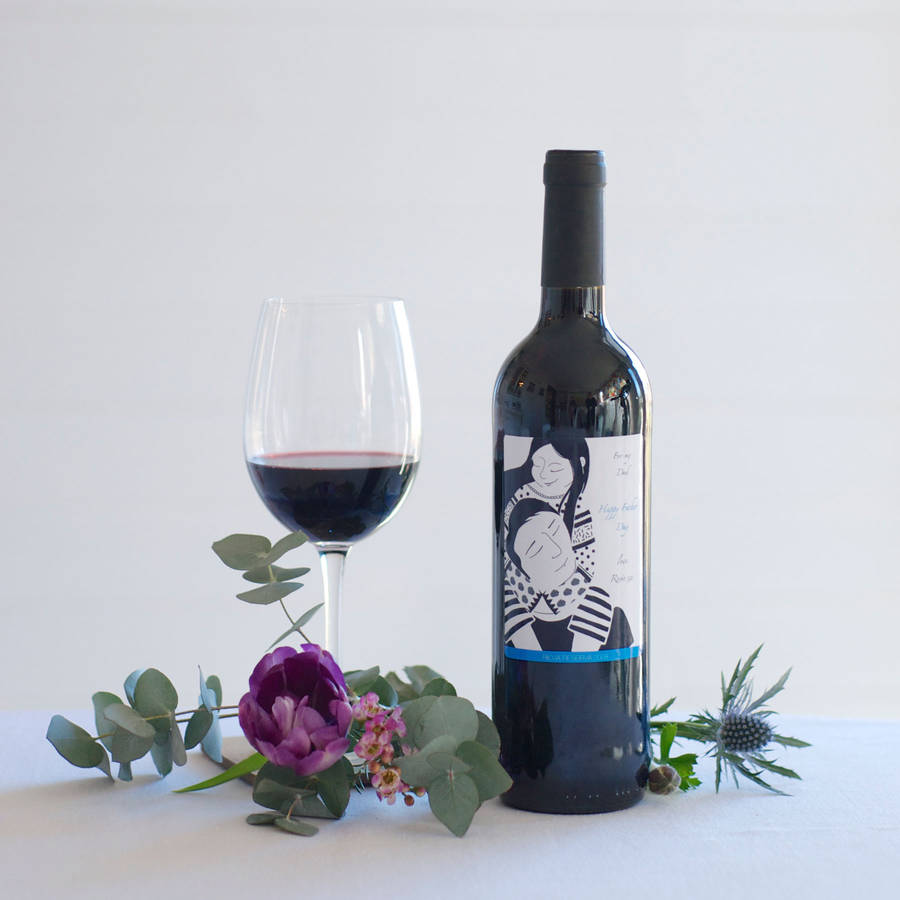 Personalised Father's Day Rioja Wine