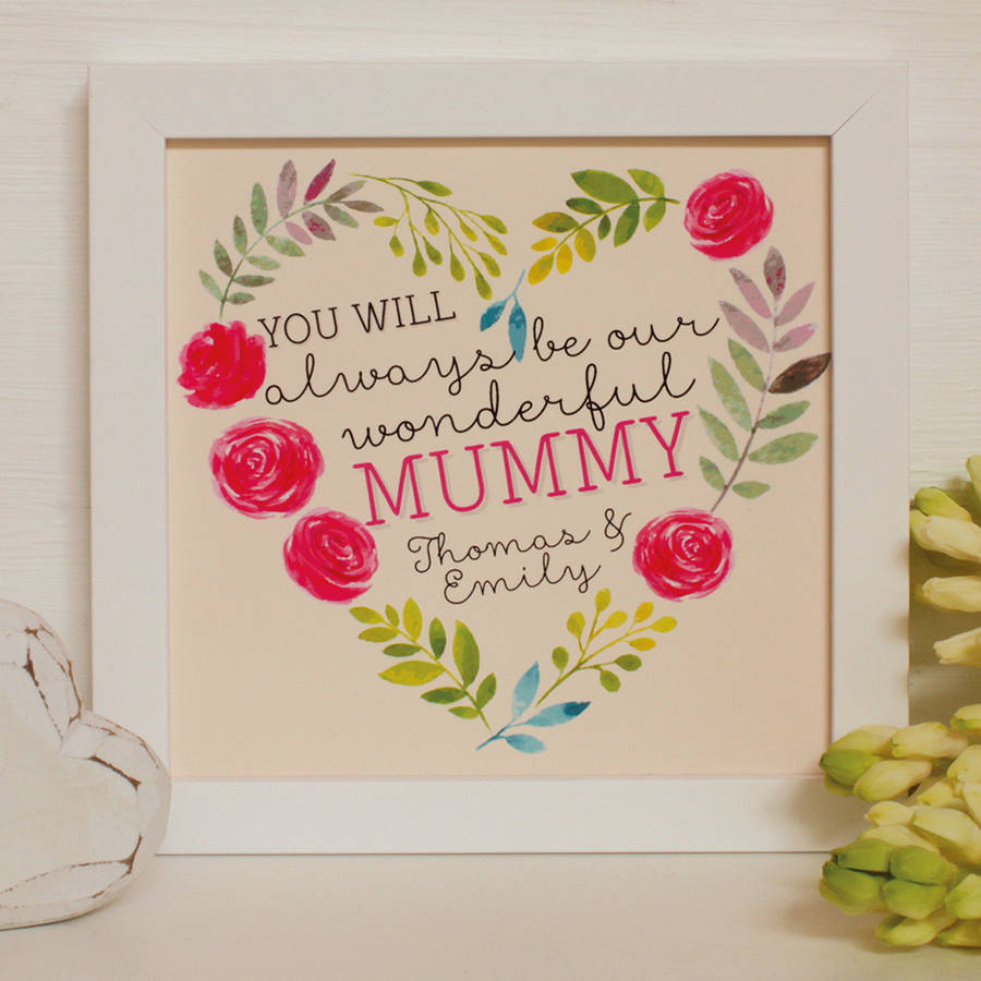 personalised always my…mothers day framed print by ...