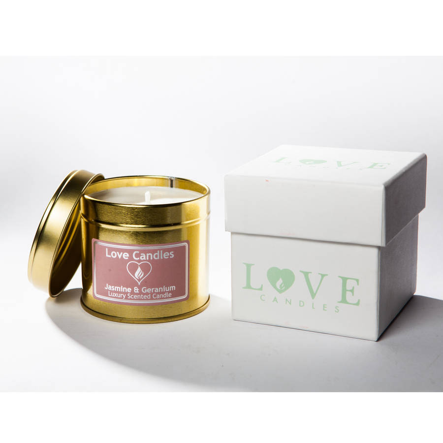 Jasmine And Geranium Scented Candle