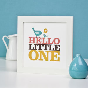 New Little One Framed Print - nursery pictures & prints
