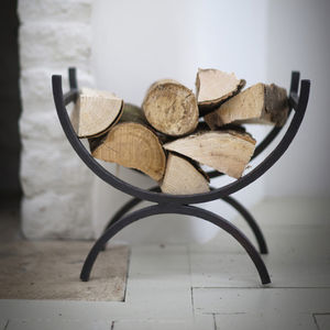 Wrought Iron Log Holder - baskets