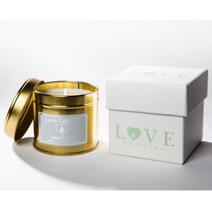 Clean Cotton Scented Candle - candles & home fragrance