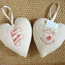 personalised tooth fairy pocket heart, front and back