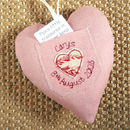 personalised tooth fairy heart, pink back
