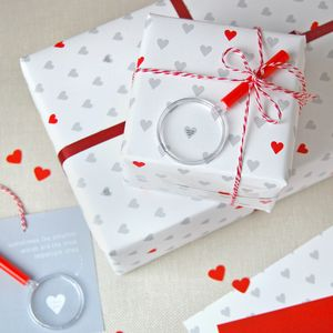 Mini Love Messages Wrapping Paper Set - wrapping paper