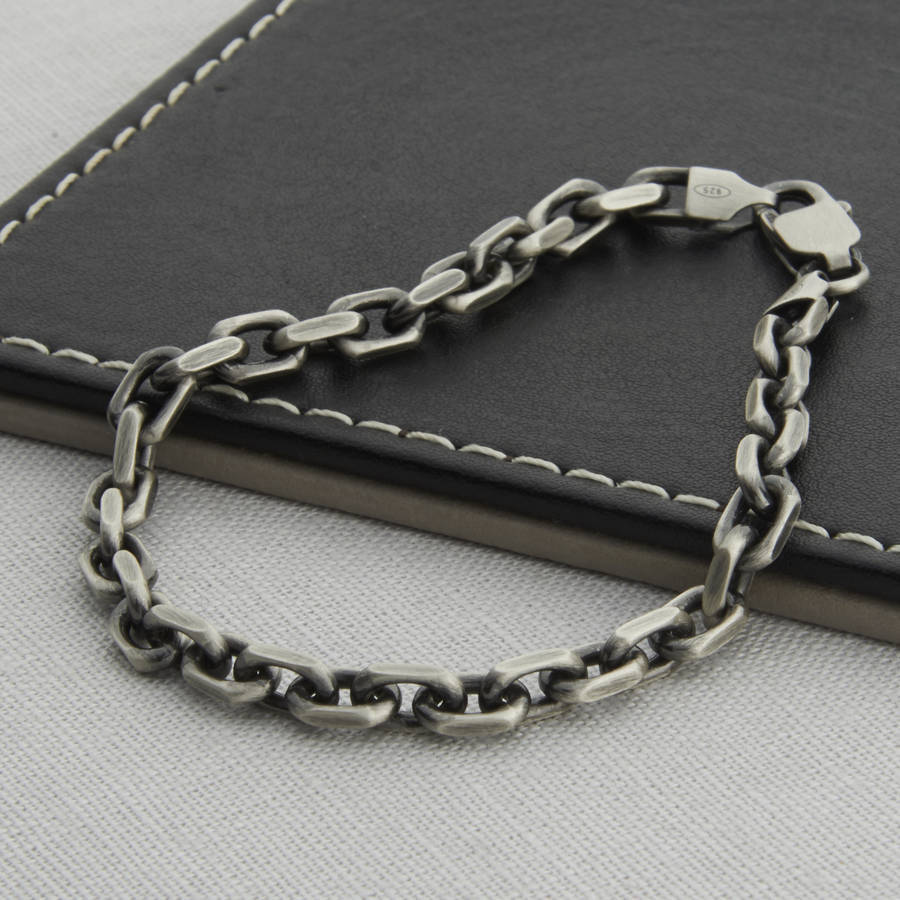 Men S Sterling Silver Anchor Chain Style Necklace By