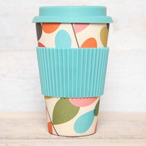 Leaf Print Bamboo Travel Cup - kitchen