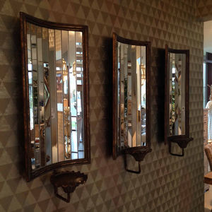 Vintage Style Mirrored Large Wall Sconce