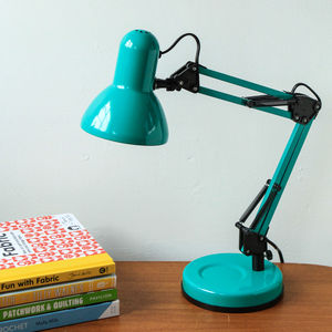 Angle Hobby Lamp In Teal - desk lamps