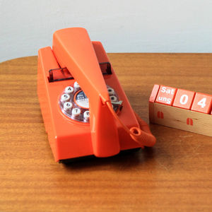 Trim Phone Retro Remake In Bright Orange - home accessories
