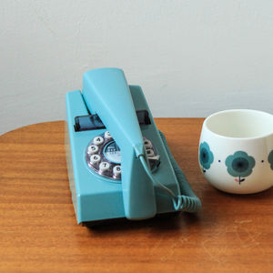 Trim Phone Retro Remake In French Blue - office & study