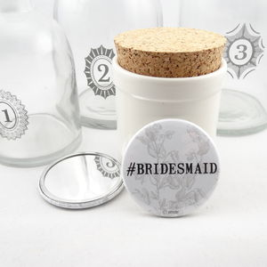 #Bridesmaid Pocket Mirror