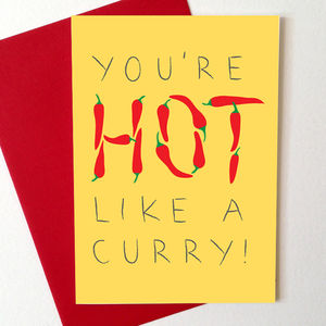 Hot Curry Anniversary Card