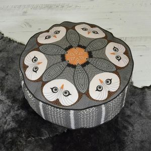 Night Owl Patterned Pouffe Beanbag - furniture