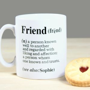 Personalised 'Friend' Definition Mug
