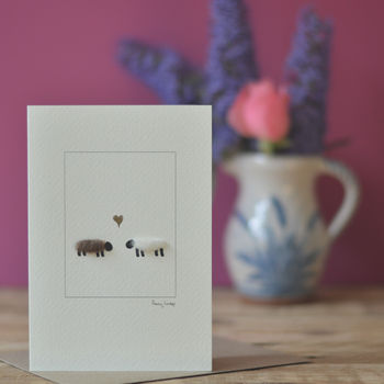 Sheep In Love Greeting Card