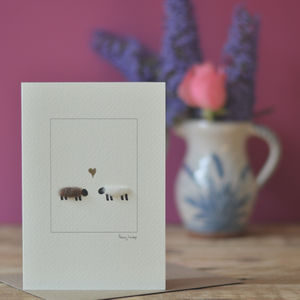 Sheep In Love Greeting Card - shop by category