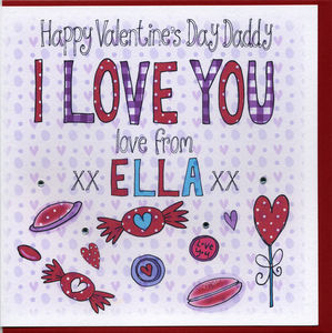 Personalised Daddy Valentine Card - valentine's cards