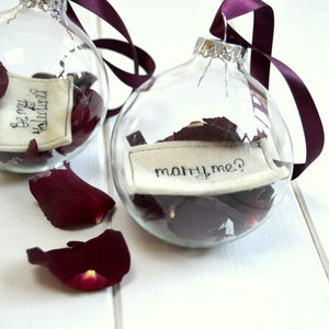 Valentine Glass Bauble - hanging decorations