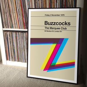 Buzzcocks Remixed Gig Poster