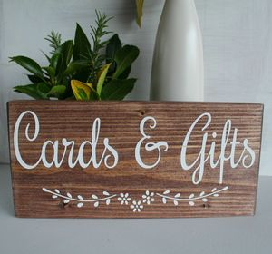 Cards And Gifts Handmade Wedding Sign