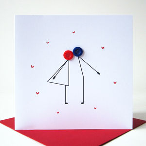 Kissing Couple Valentines Day Card - valentine's cards