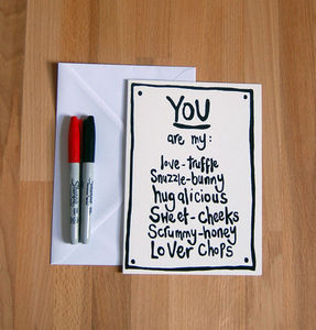 'You Are My Love Truffle…' Anniversary Card