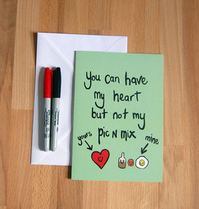 'Pic N Mix' Funny Greetings Card