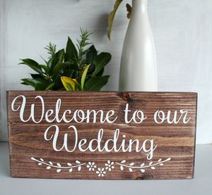 Welcome To Our Wedding Handmade Sign - room signs