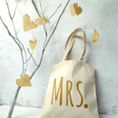 'Mrs' Wedding Tote Bag
