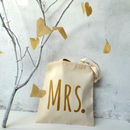'Mrs' Wedding Tote Bag