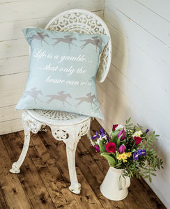 """Life Is A Gamble…' Cushion"