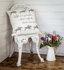 'Life Is A Gamble…' Cushion