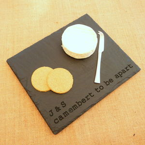 Cheesy Romantic Engraved Slate Board - cheese boards & knives