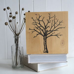Winter Tree Print On Timber - contemporary art