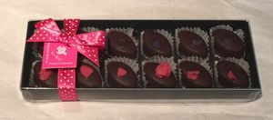 Box Of 12 English Rose And Violet Creams - sweets & chocolate